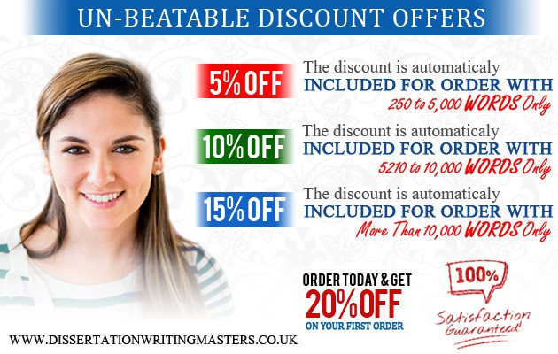 Amazing Discounts for dissertation writing help